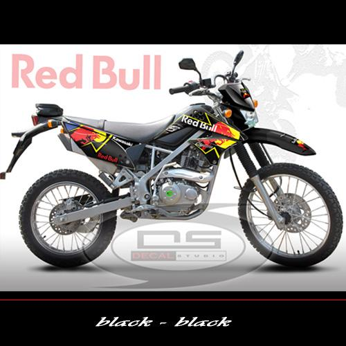 Sticker Striping Kawasaki KLX 150 Red Bull