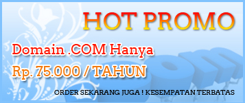 Domain .com .net hanya 35rb